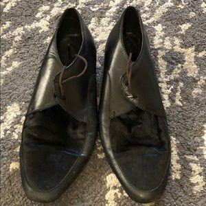 Aldo fur toe dress shoes